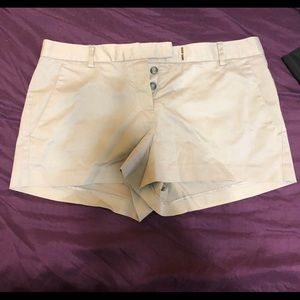 Tan theory khaki shorts